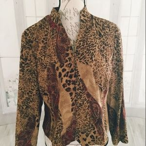 Requirements Women's PM Petite Leopard Jacket